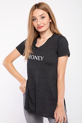 Honey Baskılı Tshırt-P-018018