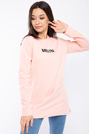Brklyn Baskılı Tunik Sweat-P-018128