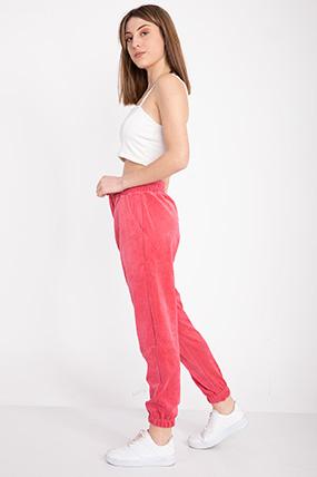 Bel Paca Lastıklı Kadıfe Pantolon-P-018337