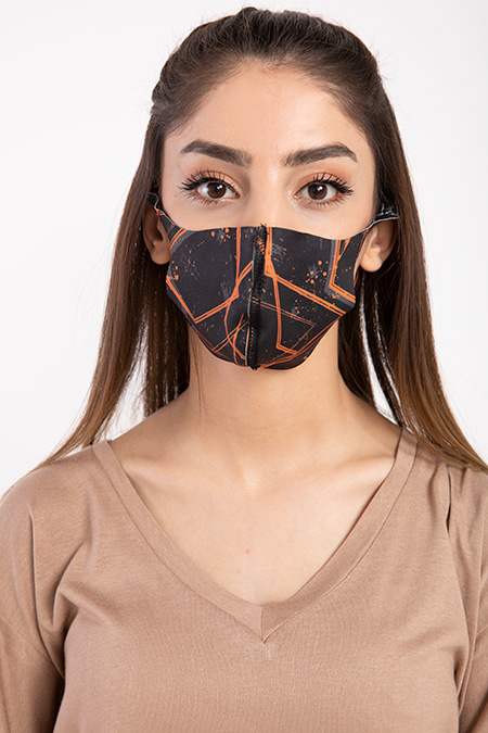 Baskılı Esnek Maske-P-017123