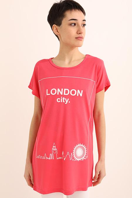 London Cıty Baskılı Tshırt_NARCICEGI