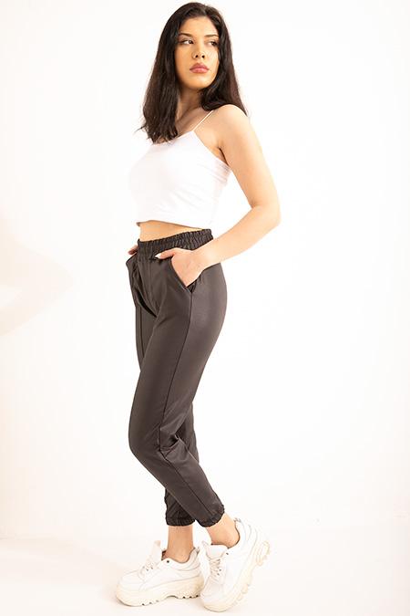 Bel Paca Lastıklı Derı Pantolon-P-018876