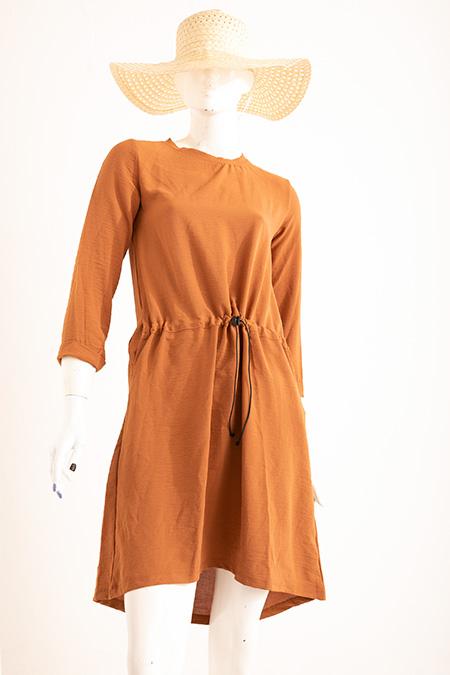 Bel Lastıklı Ceplı Ayrobın Elbise-P-018915