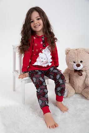 Kız Çocuk Pijama Takımı - 1214 (4-7 Yaş)-021596