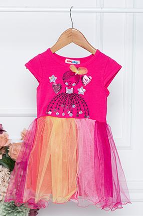 Kız Çocuk Elbise - 123162 (2-6 Yaş)-785064