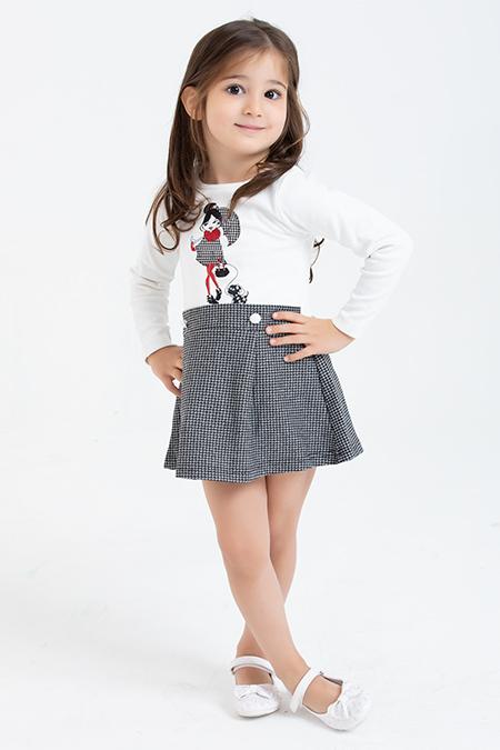 Kız Çocuk Elbise - 1084 (4-8 Yaş)-037842