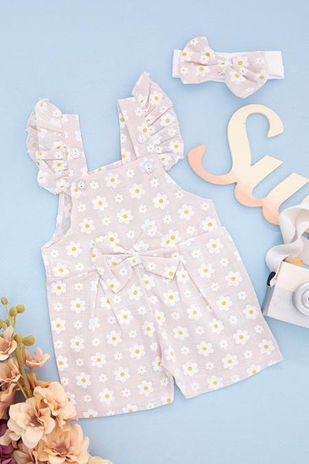Kız Bebek Çiçekli İkili Takım - 2312_