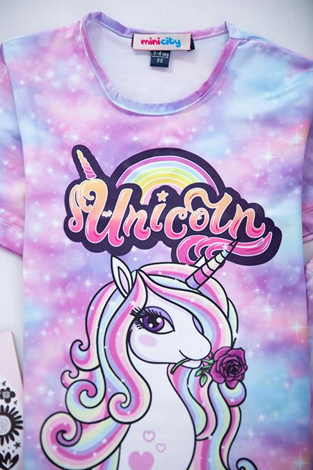 Kız Çocuk Unicorn Taytlı Takım (3-10 Yaş)_