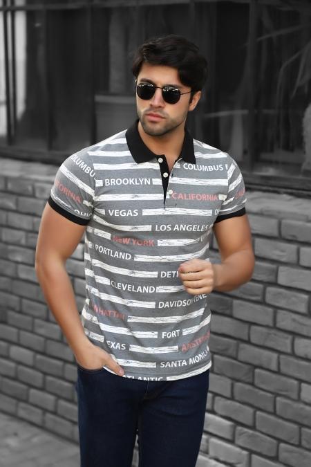 Baskılı Polo Yaka T-Shirt 19-Y4229-414312714