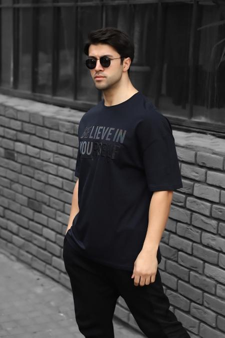 Believe Enjeksiyon Baskılı Oversize T-shirt AC-Y36007LNS-414326552