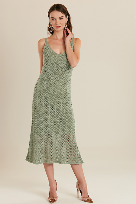 Askılı Triko Uzun Elbise-415710905