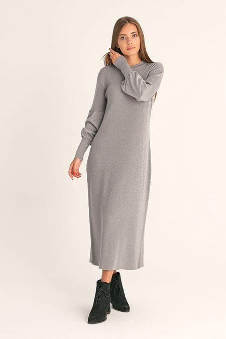 Simli Uzun Elbise-415712518